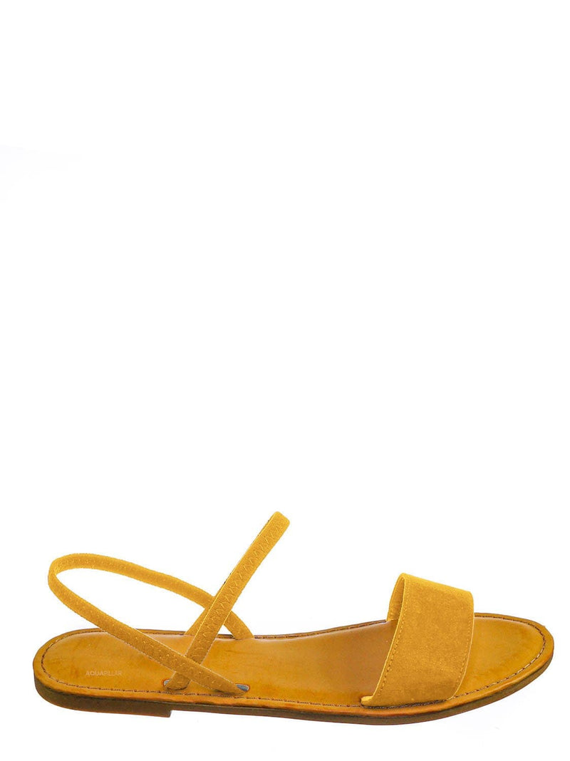 Amber Yellow / Waterfront24 Summer Multi Strap Slingback Sandals - Womens Open Toe Elastic Shoe
