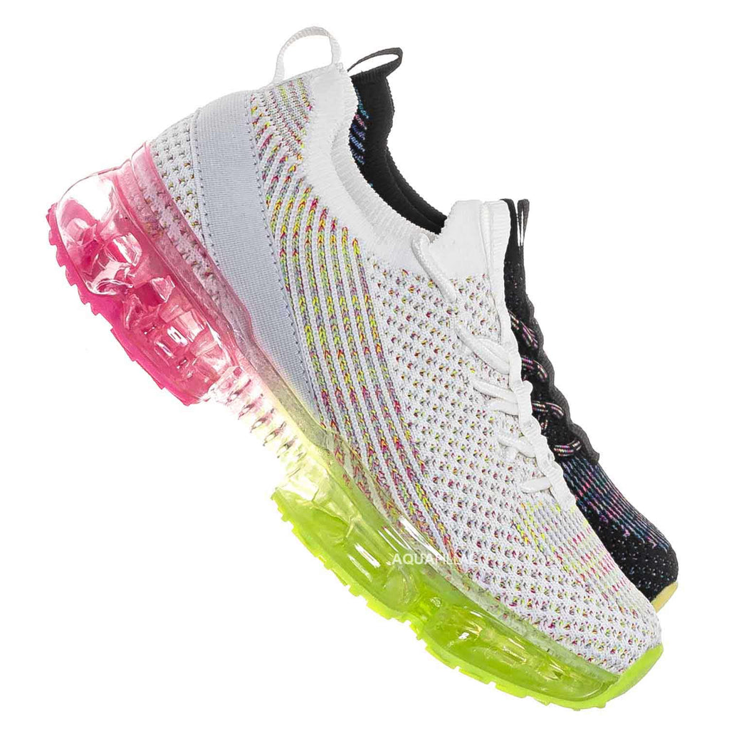 White / Flow20K Kids Multi Color Sneaker On Lucite Jelly Outsole