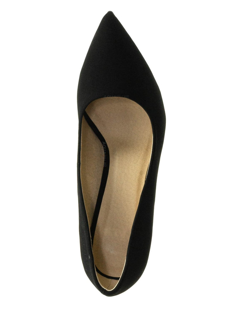 Black Nude / Cindy Classic Pointed Toe Dress Pump - Womens High Heel Stiletto Formal Shoes