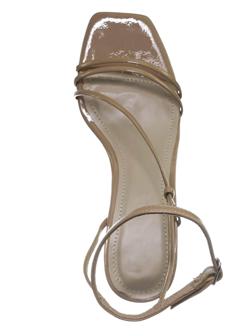 Nude Beige / Always01 Nude Beige Square Open Toe Thin Strap Sandal - Women Spaghetti Strap Shoes