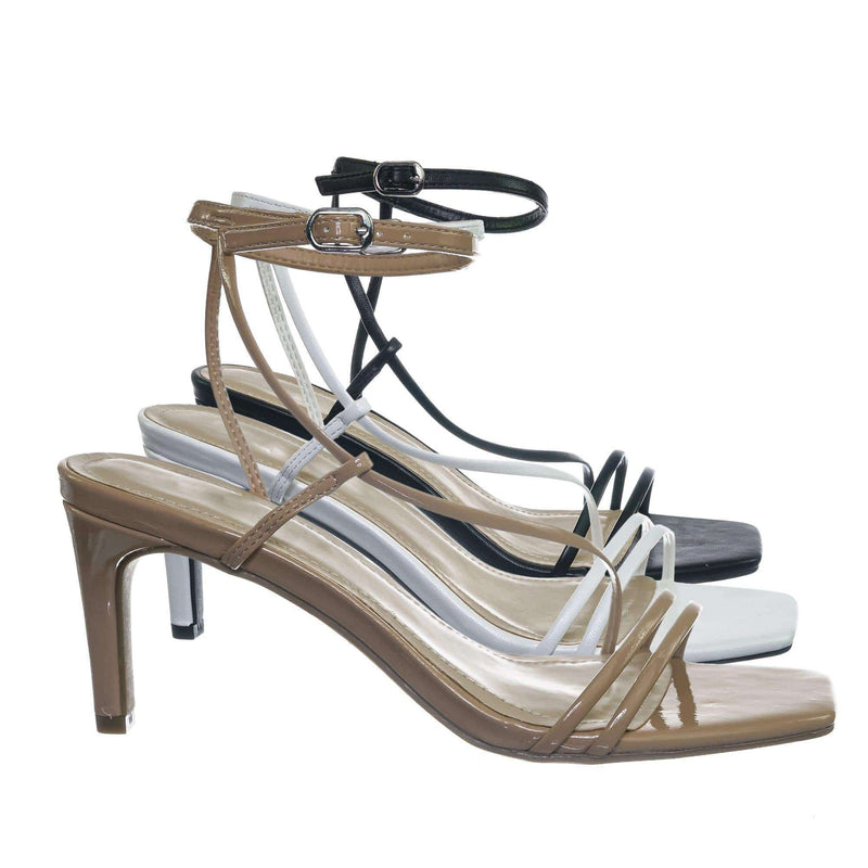 Always01 Square Open Toe Thin Strap Sandal - Women Spaghetti Strap Shoes