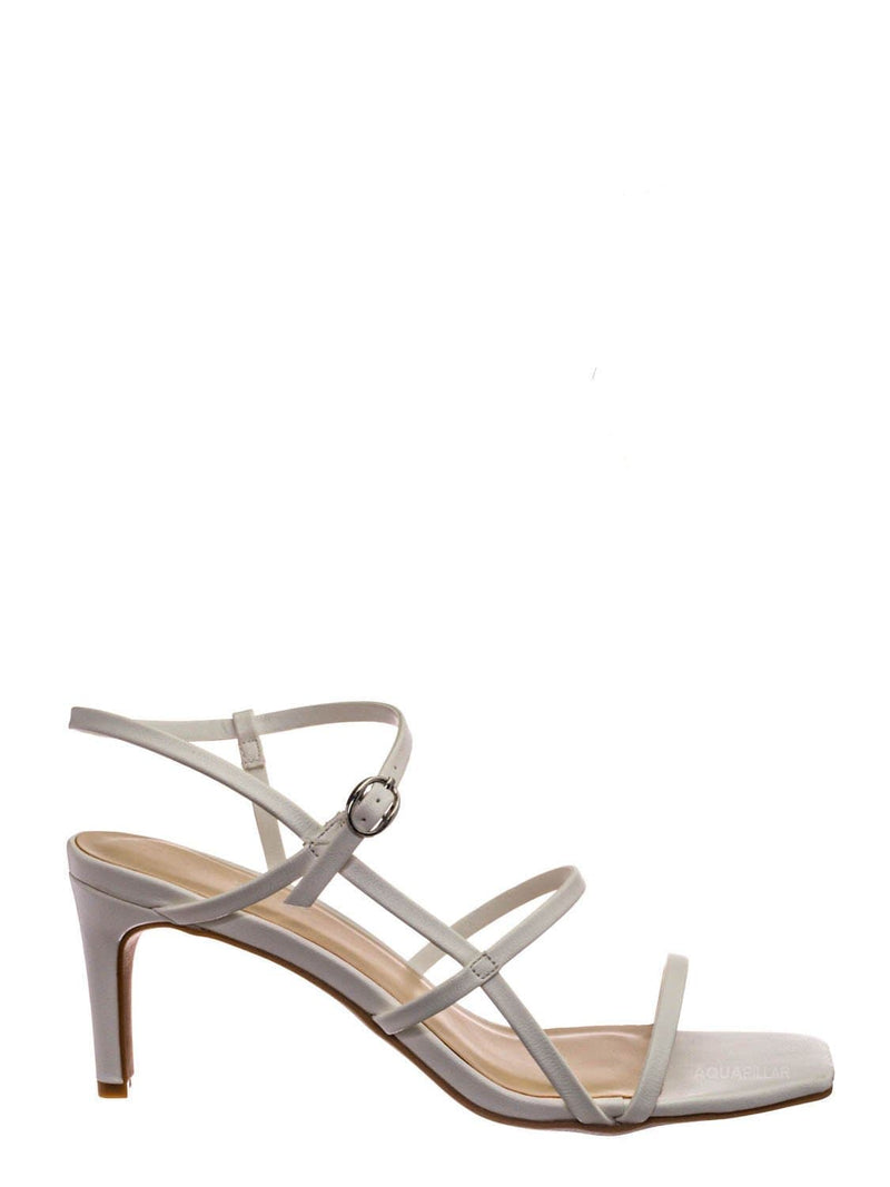 White Crp / Always17 Thin Strap Cage Sandal - Women Stiletto Heel Open Square Toe Shoes