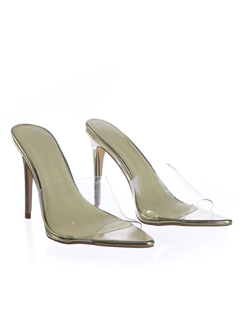 Exception02 ClrPvc  Clear Lucite Transparent Open Pointed Toe Mule Slipper Sandal