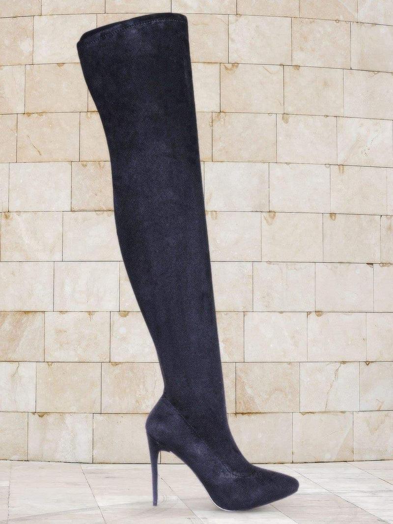 Hibiscus42 Thigh High OTK Stiletto Boots - Womens Over Knee Sock Pumps