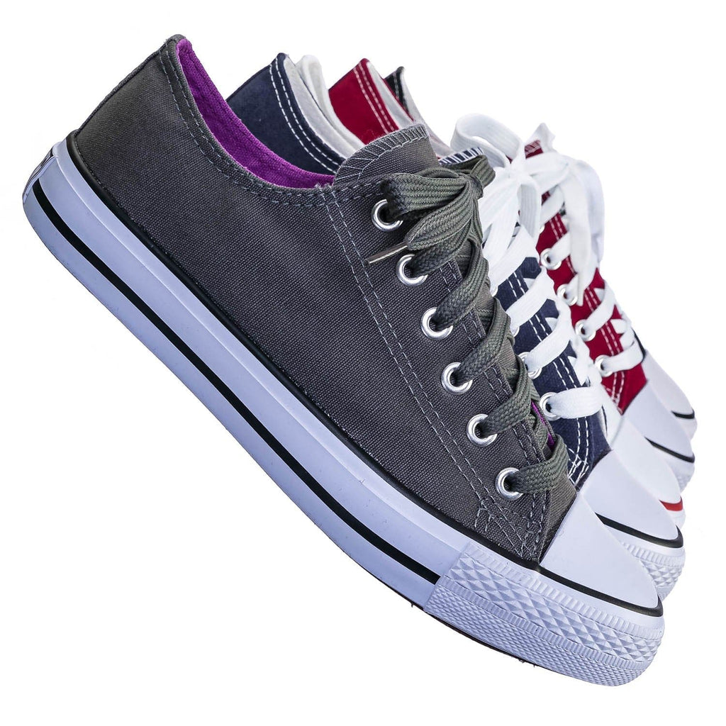 AQ35 Canvas Low Top Sneaker - Unisex Rubber Casual Walking Shoes