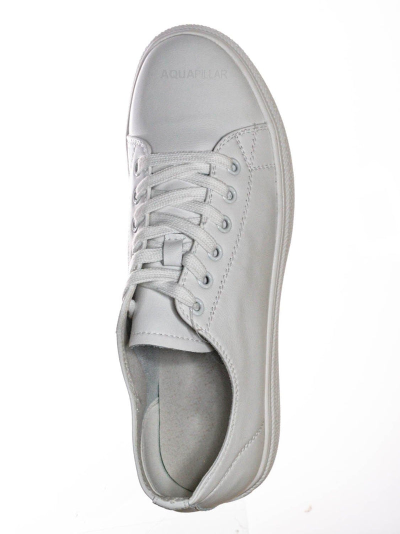 White leather / Constant3 Leather Fashion Lace Up Sneaker - Unisex Low Top Vulcanized Shoe