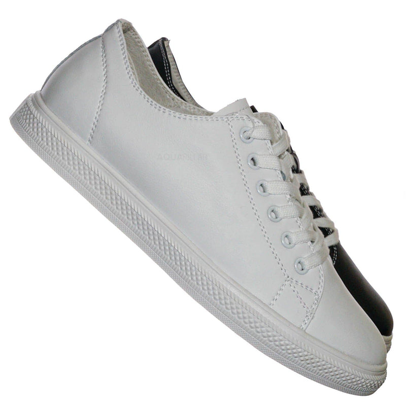 Constant3 Leather Fashion Lace Up Sneaker - Unisex Low Top Vulcanized Shoe