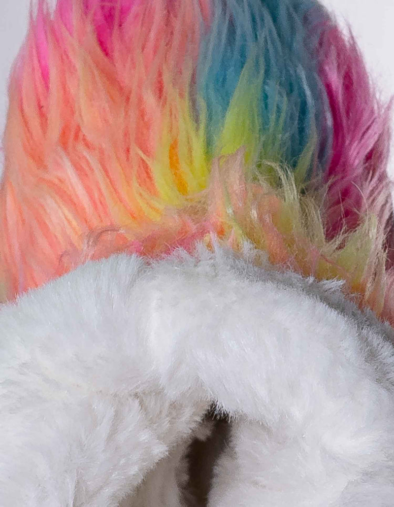 11 Long Multi Fur / AliceK Kids Fluffy Faux Fur Mukluk - Children Rainbow Winter Slipper Boots