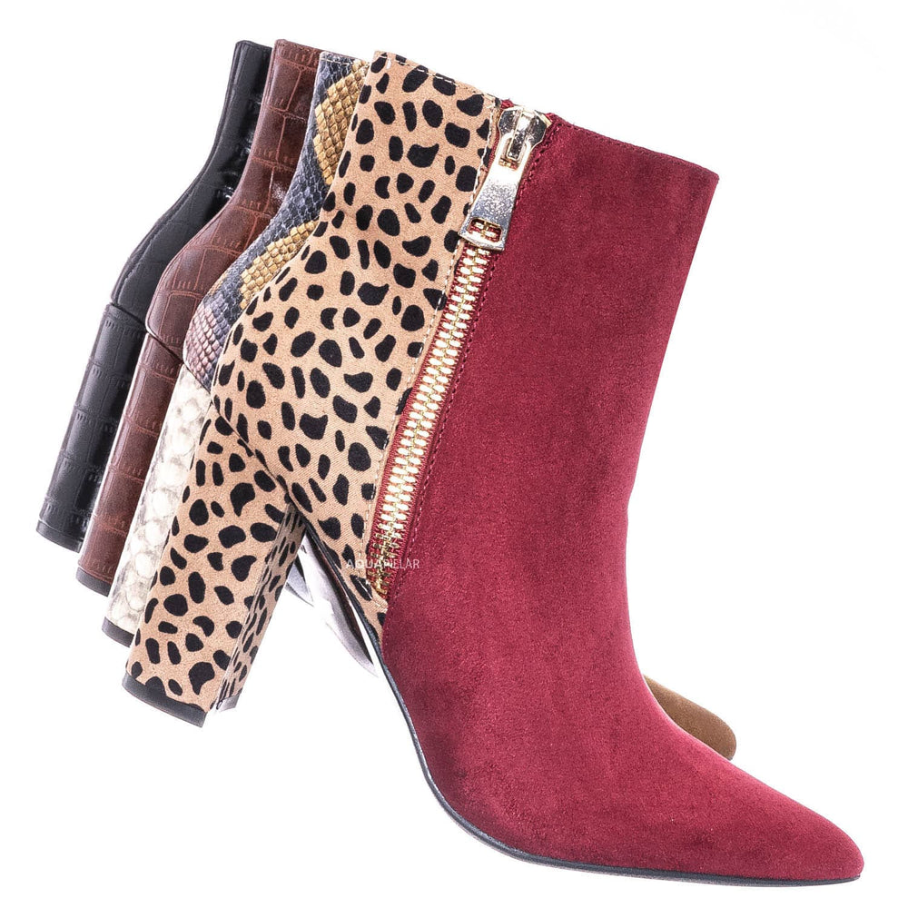 Wine Red Leopard