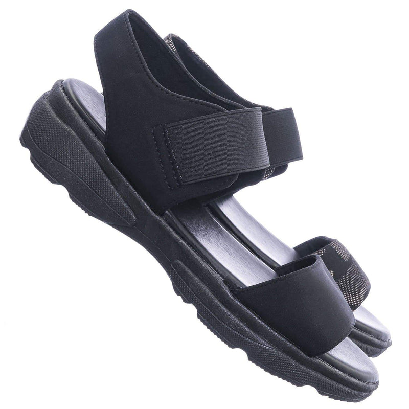 Catch21 Lightweight Athleisure Platform Sandal - Women Elastic Ankle Strap Shoes