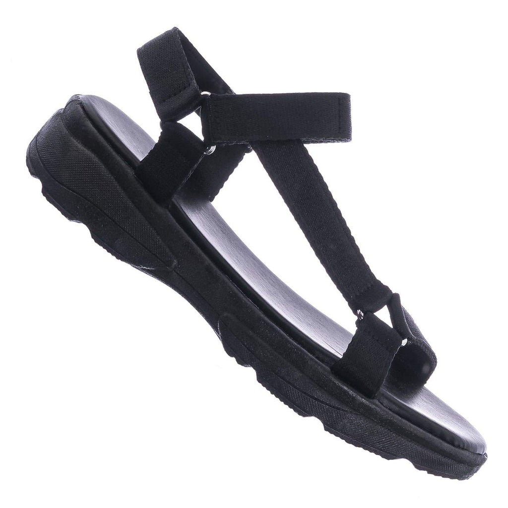 Black Tab / Catch35 Harness Strap Sport Sandals - Womens Fashion Open Toe Chunky Flatform