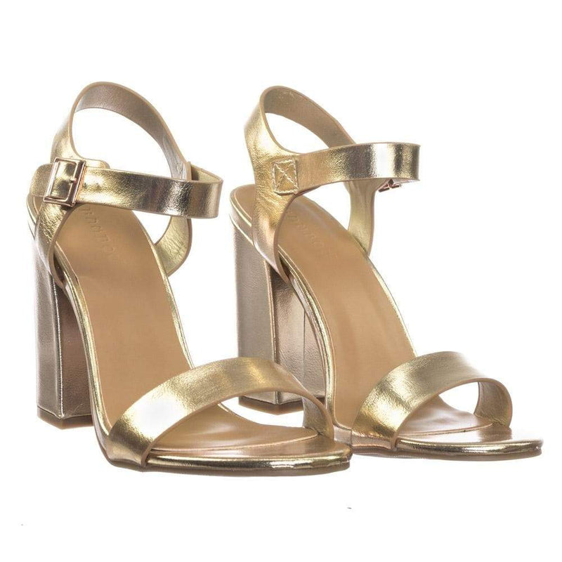 Influencer06 Retro Chunky Block High Heel w Ankle Strap Sandal