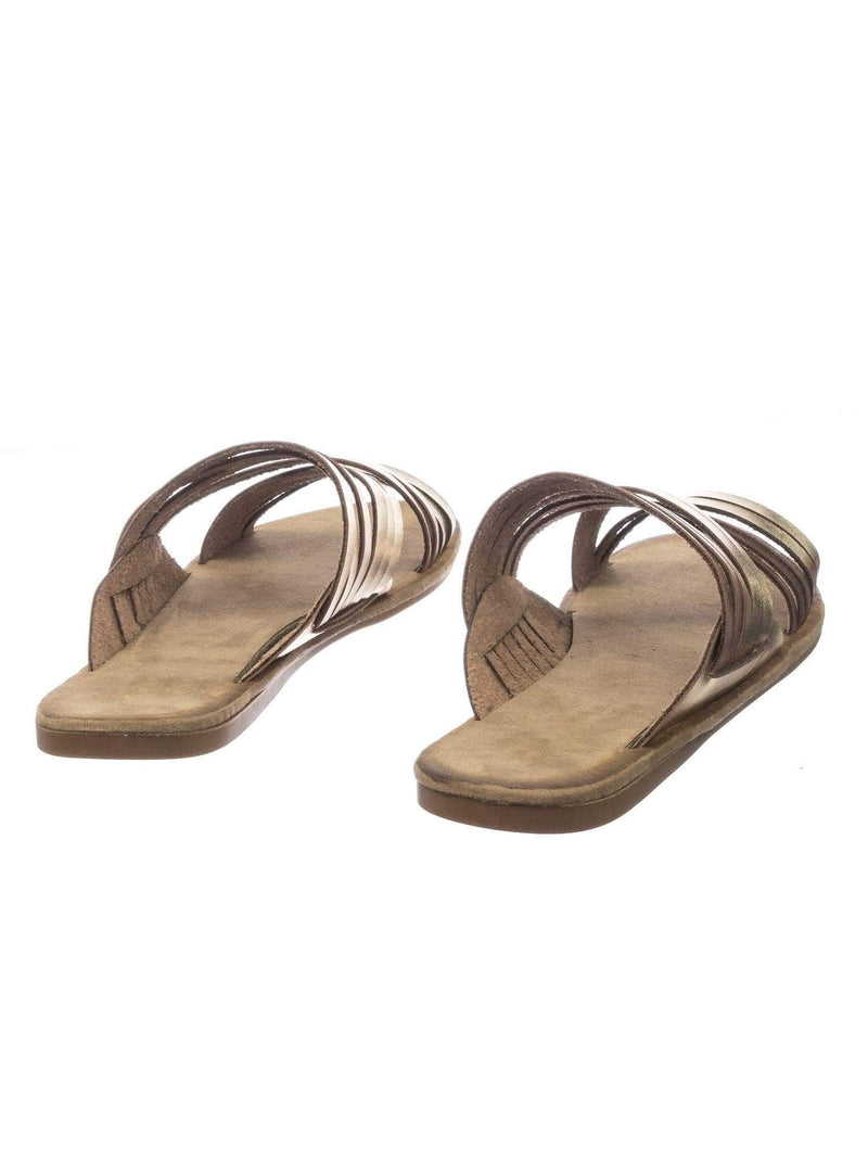 Made47 GldBnh Comfort Slides Foam Padded Slide In Slipper w Strappy Cage & Vintage Stain