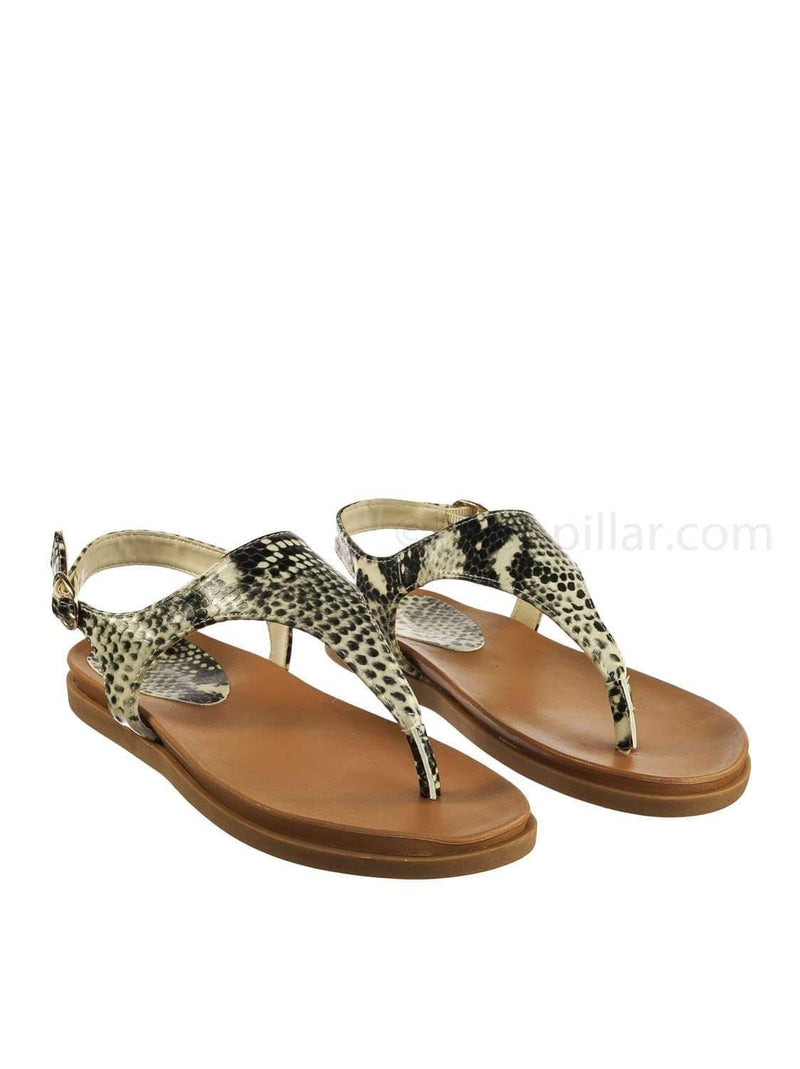 Mission67 BgeSnk Vintage Rubber Thong Sandal - Womens Triangle T-Strap Ankle Buckle