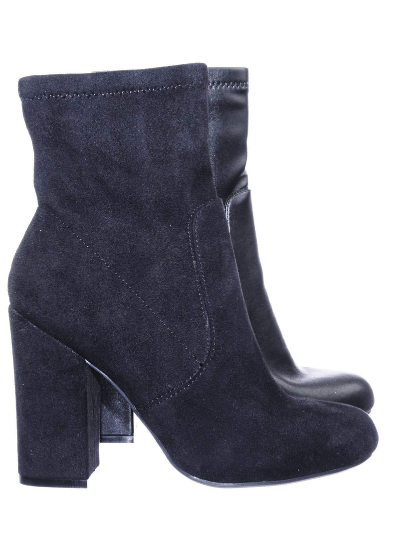 Namaste07 BkStretchSu High Block Heel Dress Ankle Bootie