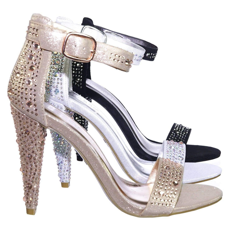 Smashing02 RGdFab Rhinestone Crystal Stud Embellished Party High Heel Sandal