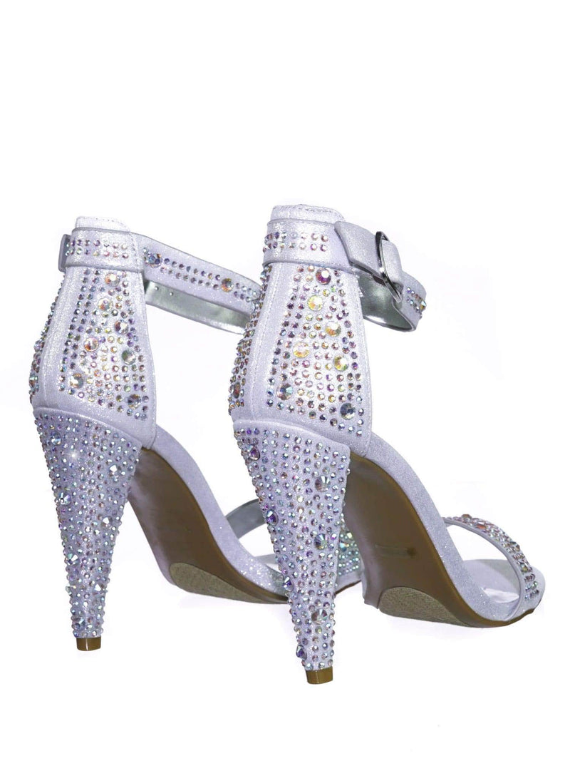 Smashing02 SlvFab Rhinestone Crystal Stud Embellished Party High Heel Sandal