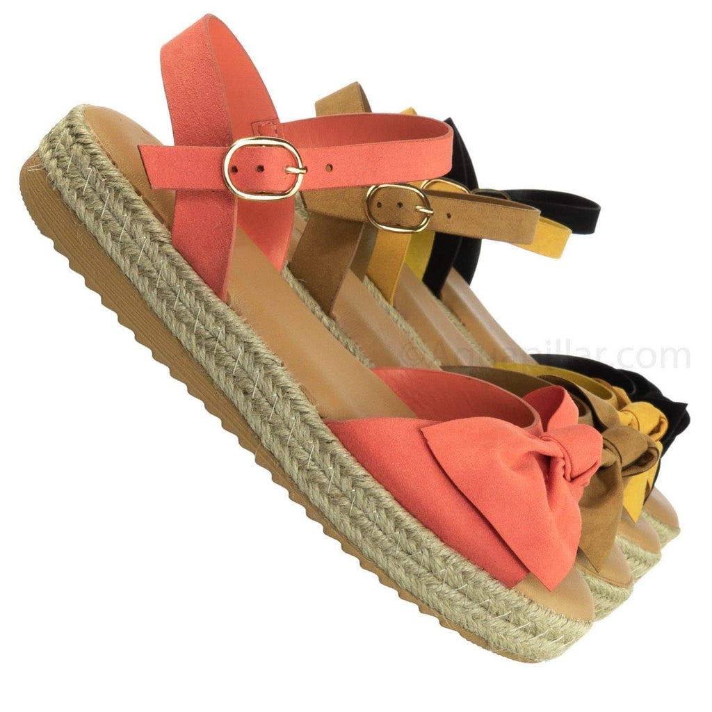 Superb10 CoralFs Lightweight Espadrille Braided Flatform - Platform Sharktooth Sandal