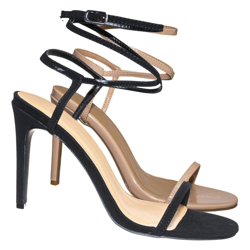 Timeless43 Thin Ankle Strap Stiletto Sandal - Women Criss Cross High  Heel Shoes
