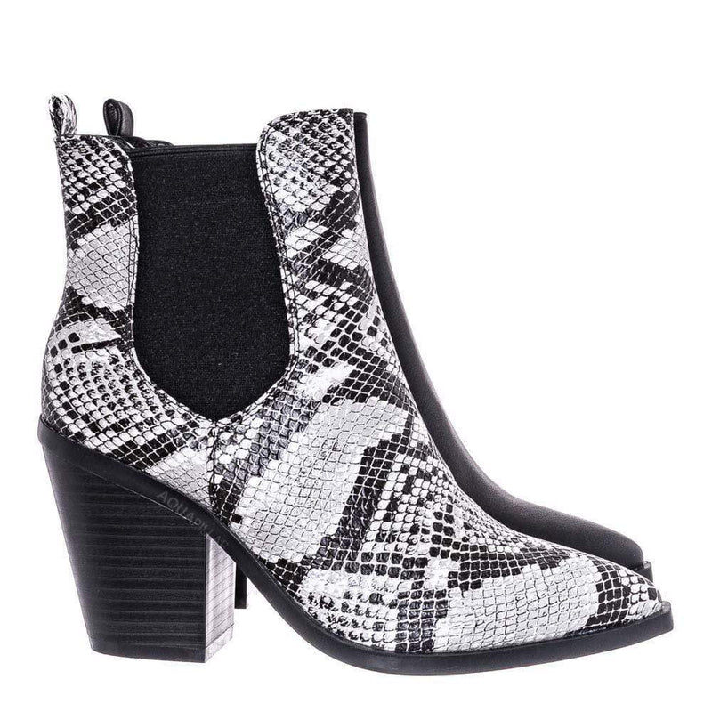 Black Snake / Upstream07 High Block Heel Chelsea Boots