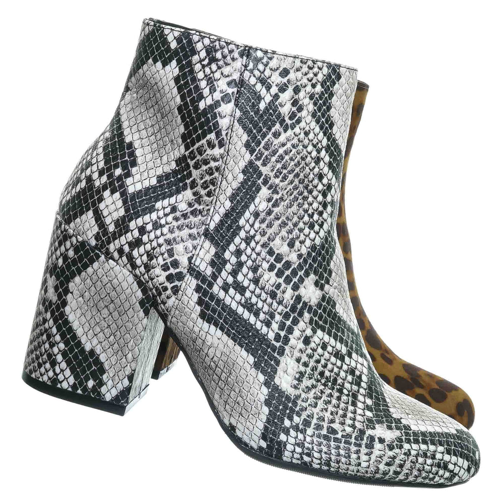 Vitality04 Ankle High Dress Booties - Women Chunky Heel w Side Zipper Ankle Boot
