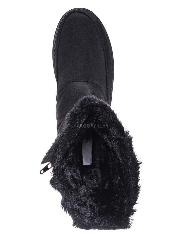 Black / Wildone33 Quilted Nylon Faux Fur Boots