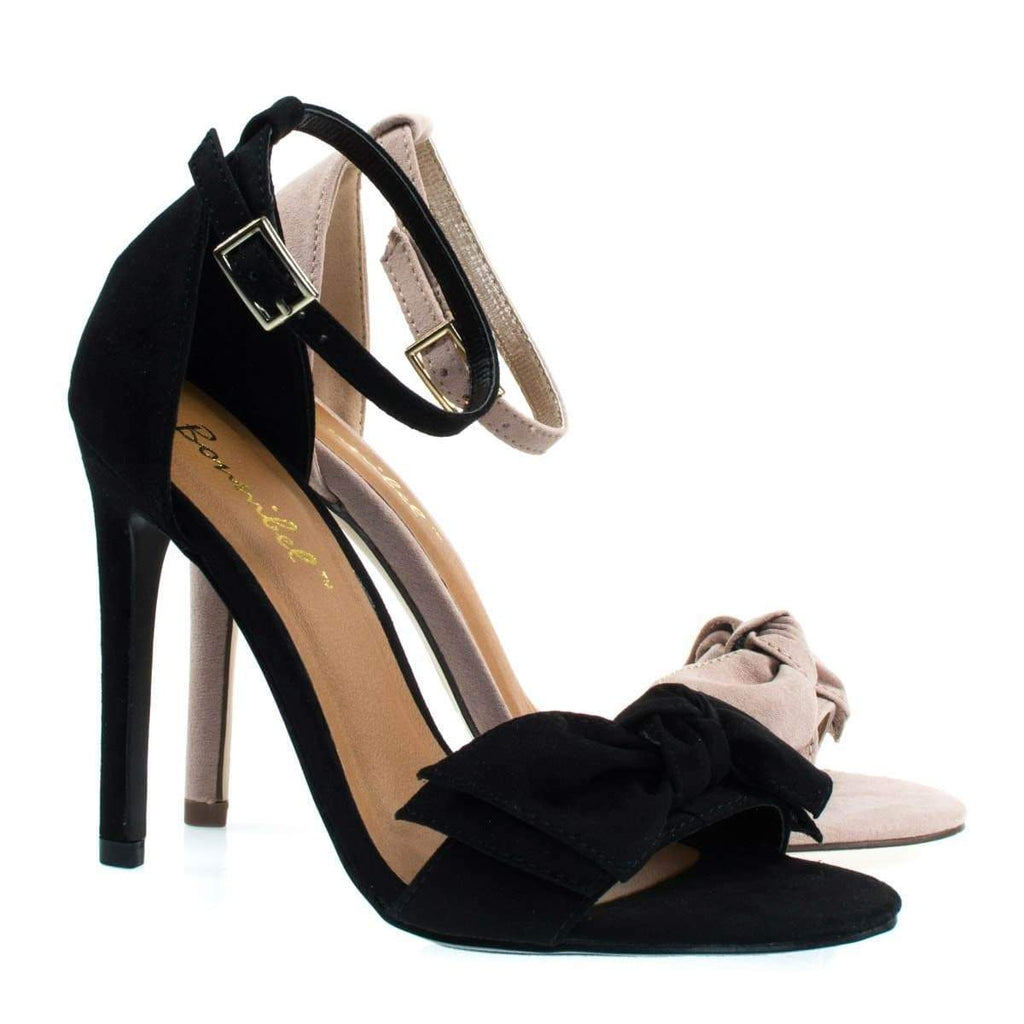 Bow1 High Heel Sandal W Oversized Bow Ornamentation, Women's Evening Shoes