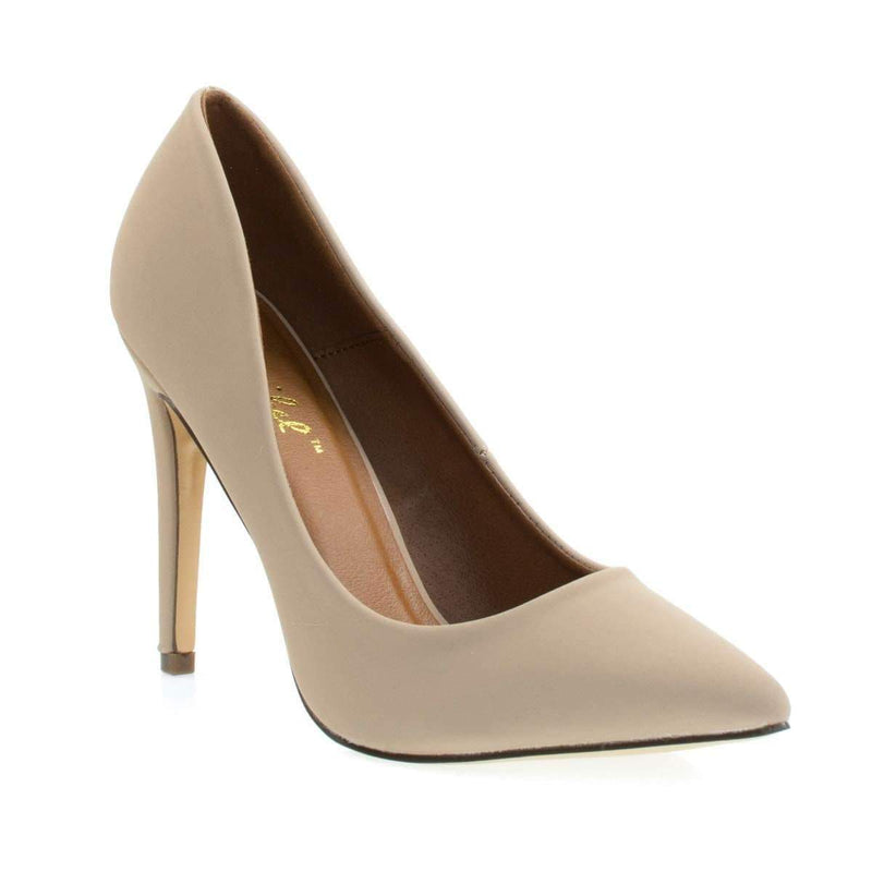 Cadence1 Classic High Heel Pump w Pointed Toe, Stiletto Heel & Padded Sole