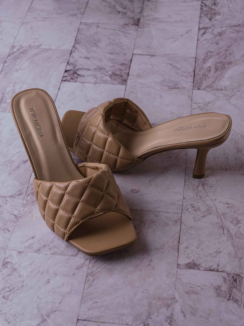 Bora66 High Quilted Mule - Womens Slide In Diamon Puffy Slipper