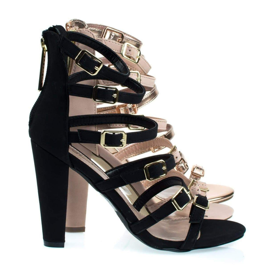 Devon22 Gladiator Strap, Chunky Block High Heel Sandal, Women's Party Shoes