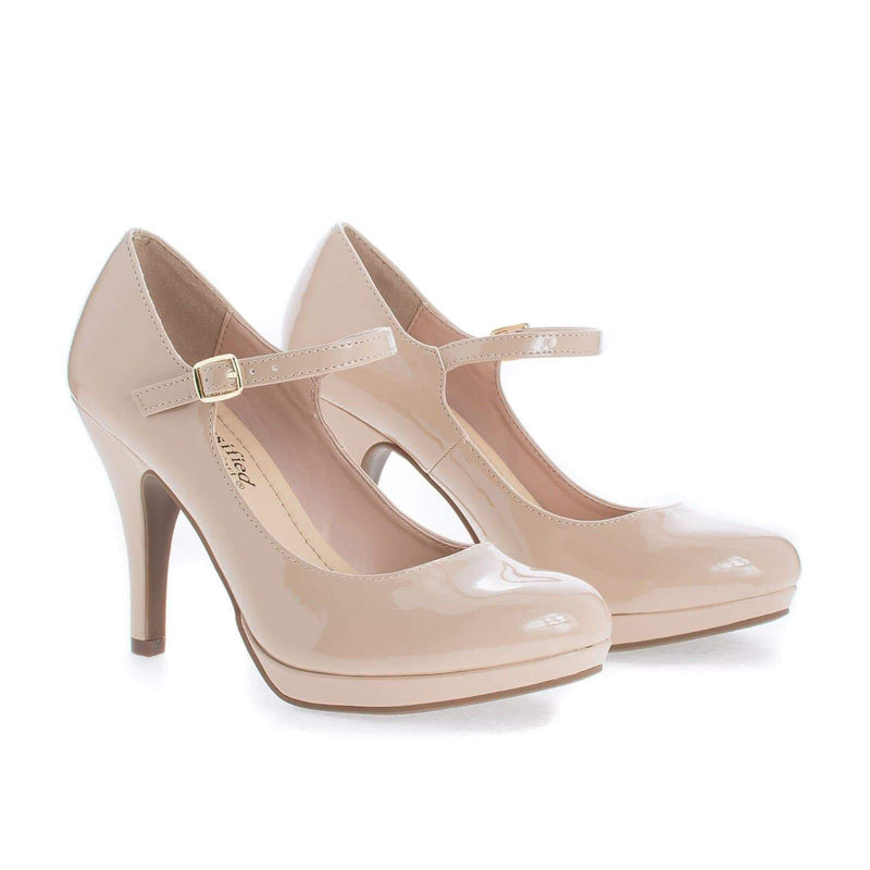 Dennis By City Classified, Almond Toe Mary Jane Extra Padded Comfort Stiletto Pumps