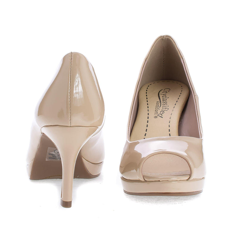 Walter By City Classified, Peep Toe Extra Comfort Insole Stiletto Heel Classic Pumps
