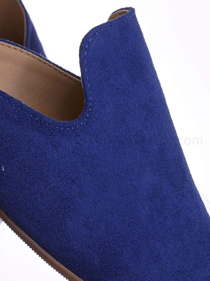 Twilight Blue / Design TwiIsu Pointed Toe Flat Mule - Women Dressy Slip On Backless Loafer Slipper