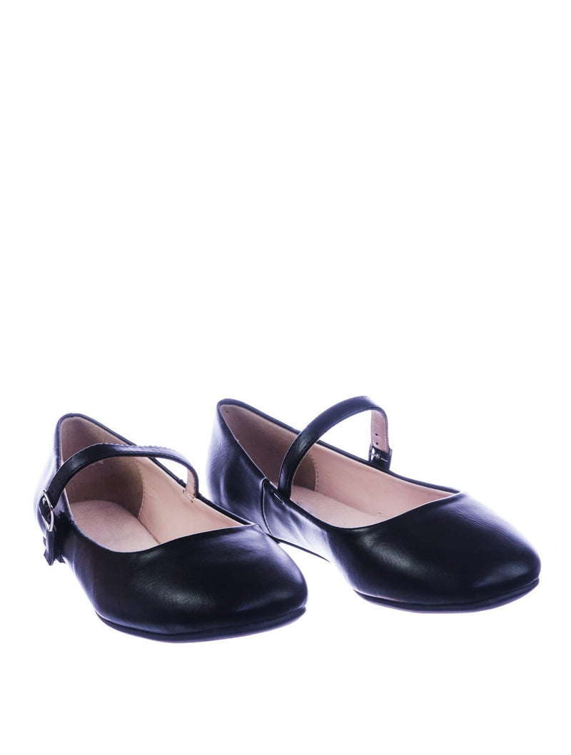 Hookup BlackPu Women Comfortable Padded Mary-Jane Round Toe Ballet Ballarina Flats