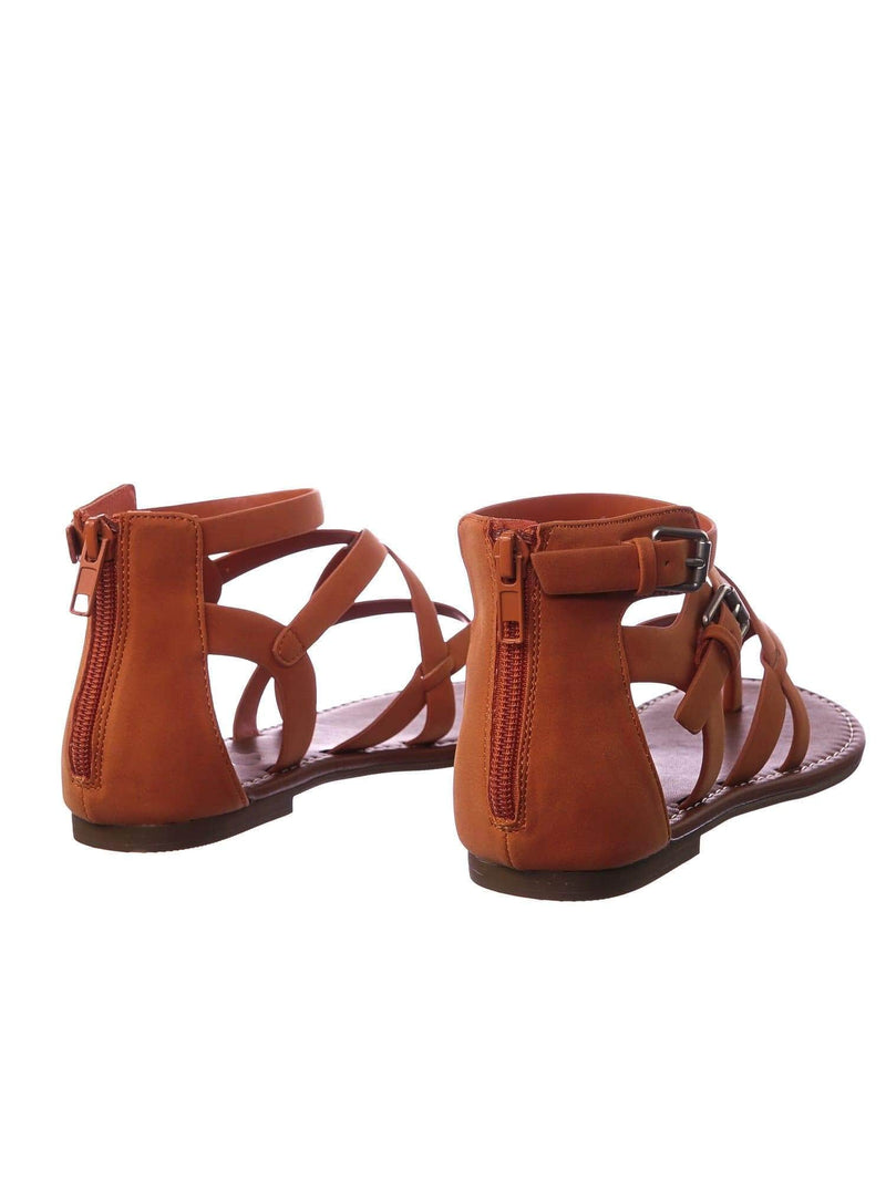 Perfect OrgNbPu Womens Roman Gladiator Strappy Sandals