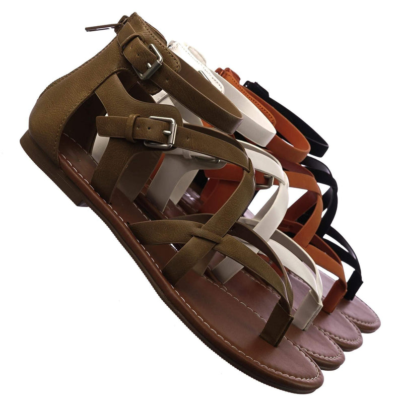 Perfect MTpePu Womens Roman Gladiator Strappy Sandals