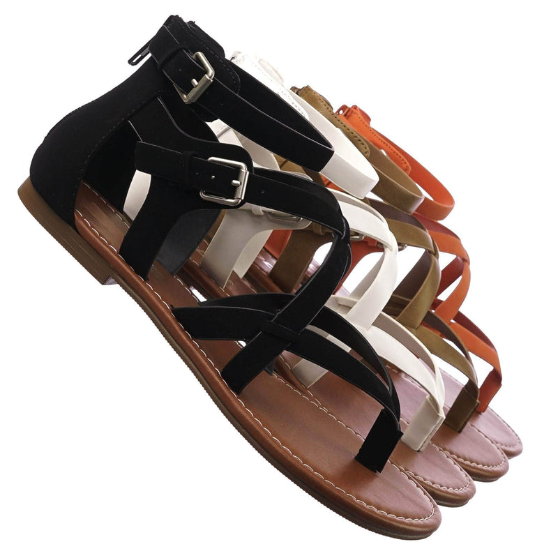 Perfect BlackNb Womens Roman Gladiator Strappy Sandals