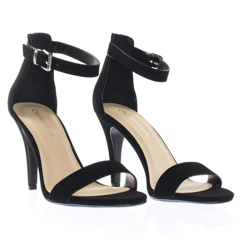 Tandra by City Classified Single Band Dress Heel Sandal With Ankle Strap, Classic Open Toe Pump