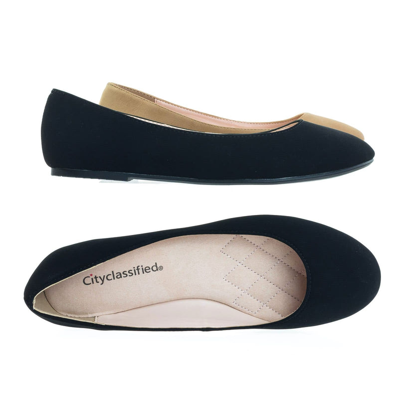 Thesis Round Toe Ballerina Ballet Flats w Soft Foam Padding