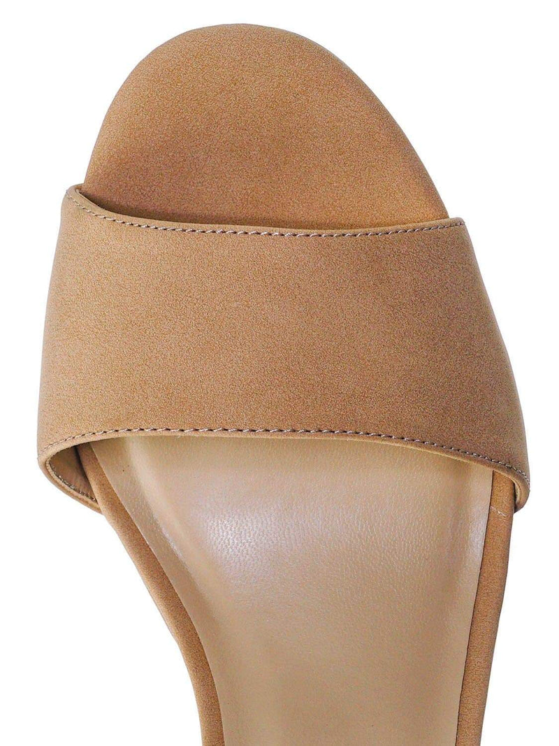 Dk Nude Beige / Adjure High Block Heel Dress Sandal - Women Platform Two Piece Ankle Strap Shoe