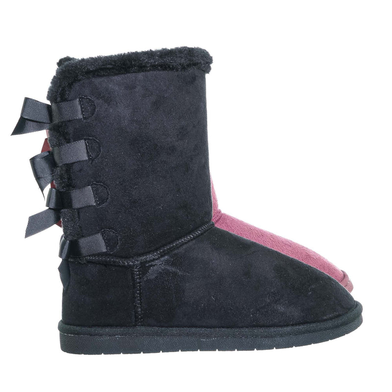 Ann34 Faux Fur Lined Shearling Boots - Womens Winter Mukluk Mid Calf Boot