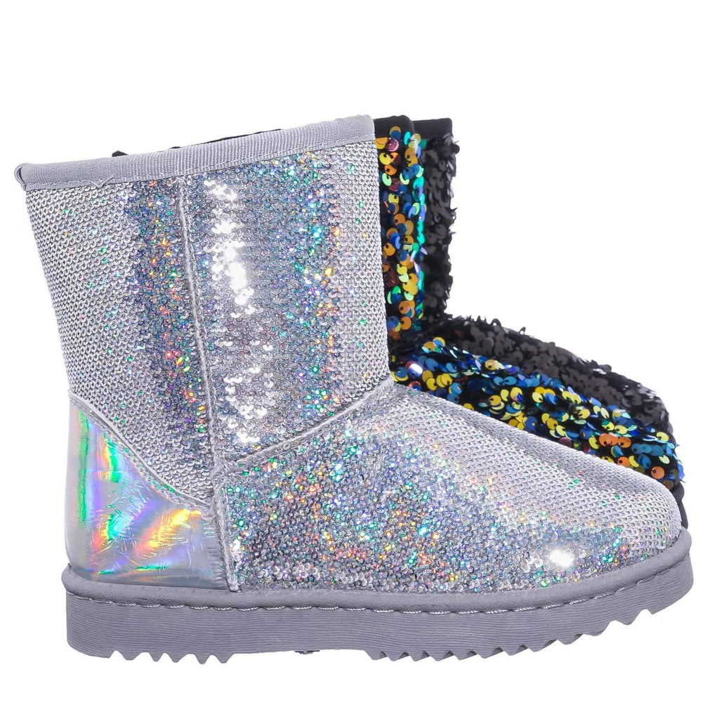 Annie42 Sequinned Faux-Fur Lined Mukluk Boots - Women's Mid Calf Winter Shoes