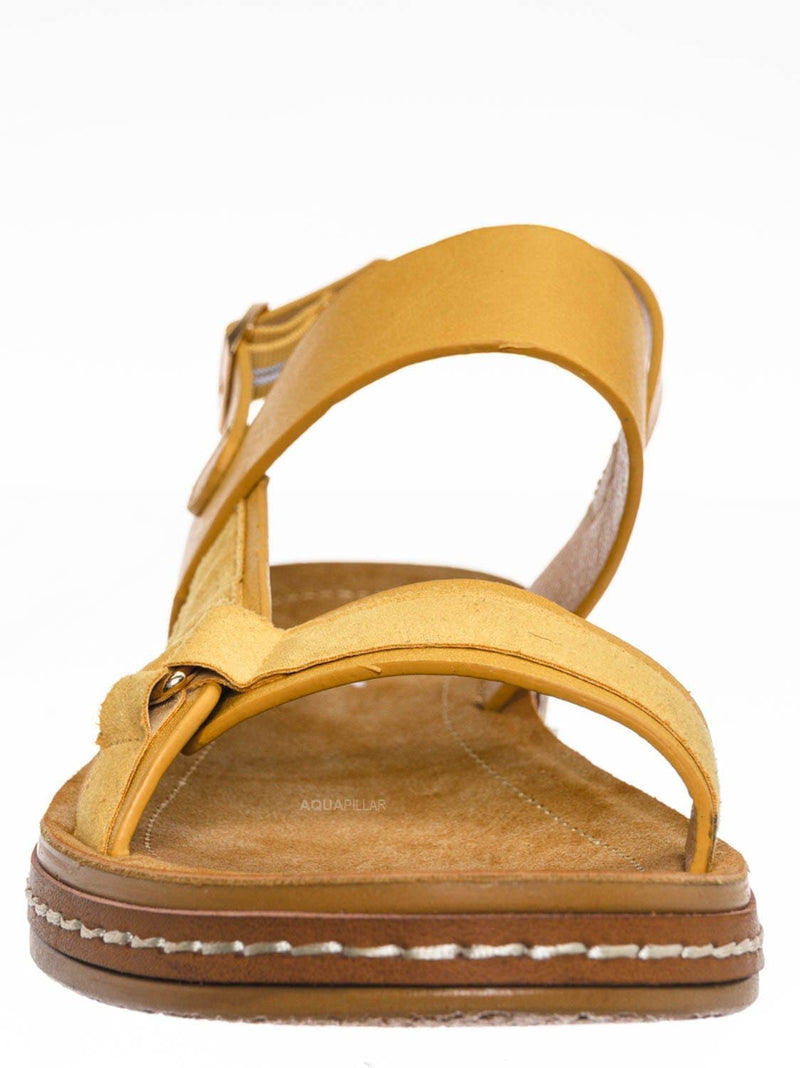 Mustard Yellow / Enhance69 Molded Sporty Strap Sandal - Womens Footbed Platform Sportswear