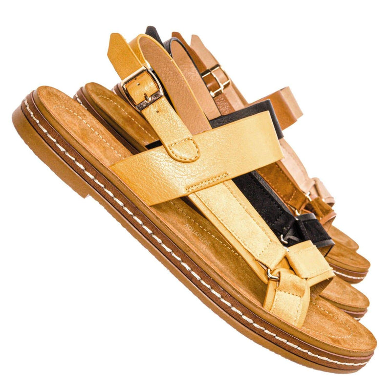 Enhance69 Molded Sporty Strap Sandal - Womens Footbed Platform Sportswear