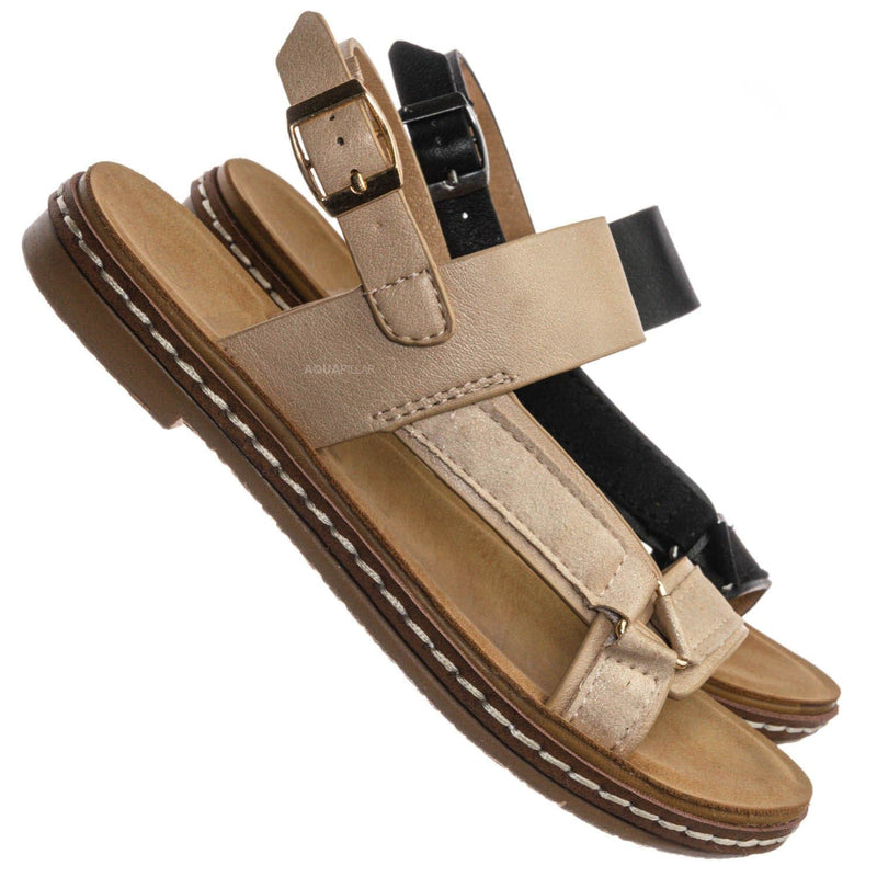 Enhance69K Kids Molded Sporty Strap Sandal - Children Footbed Sportswear