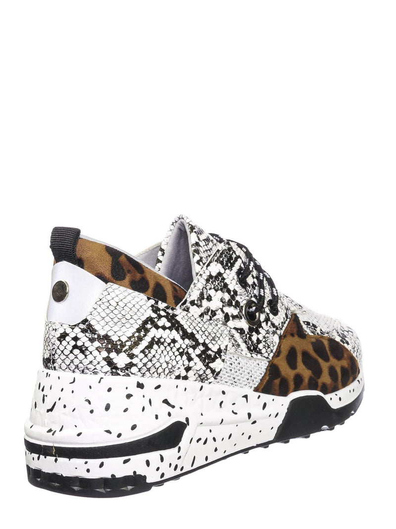 Snake Leopard / Galaxy01 Chunky Daddy Platform Sneaker - Women Jogger Color Block Retro Shoe