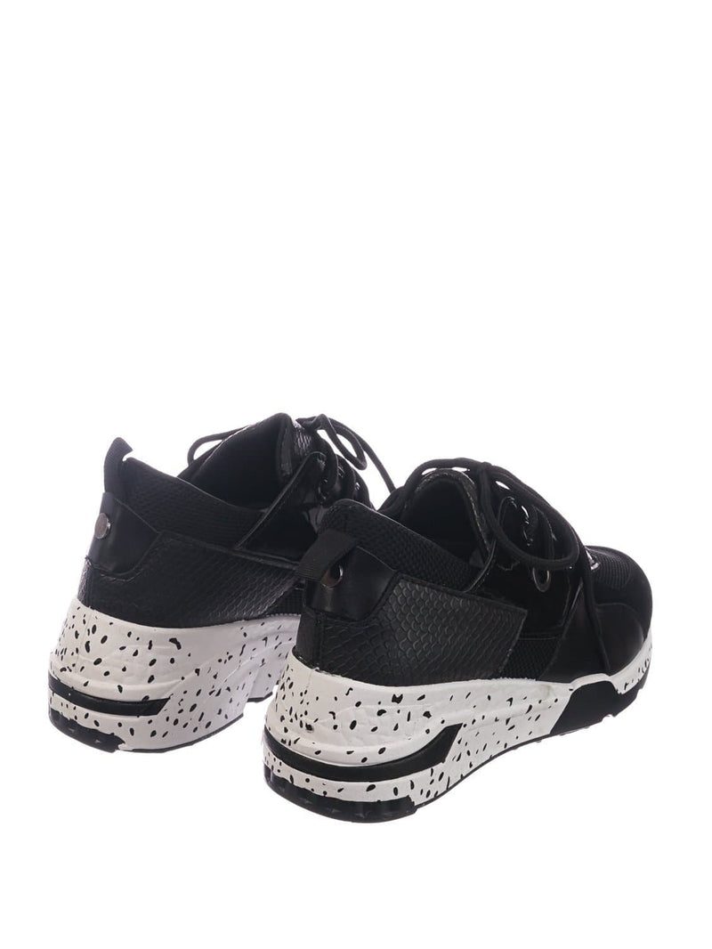 Black / Galaxy01 Chunky Daddy Platform Sneaker - Women Jogger Color Block Retro Shoe