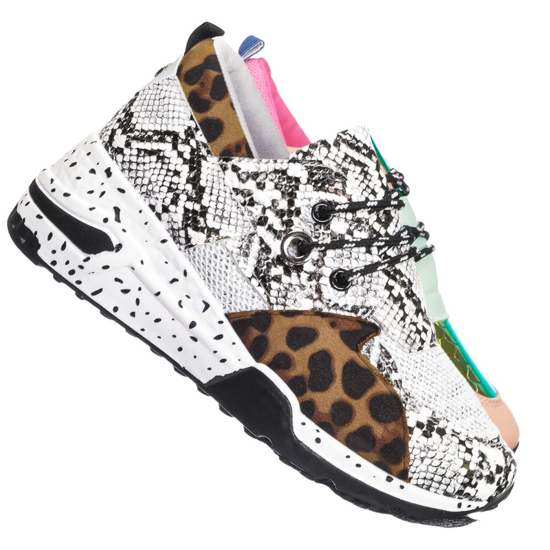 Galaxy01 Chunky Daddy Platform Sneaker - Women Jogger Color Block Retro Shoe