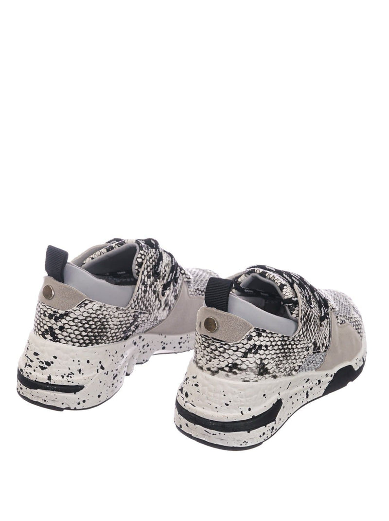 White Snake / Galaxy01K White Snake Kids Unisex Multicolor Trainer - Children Color Paneled Chunky Sneaker
