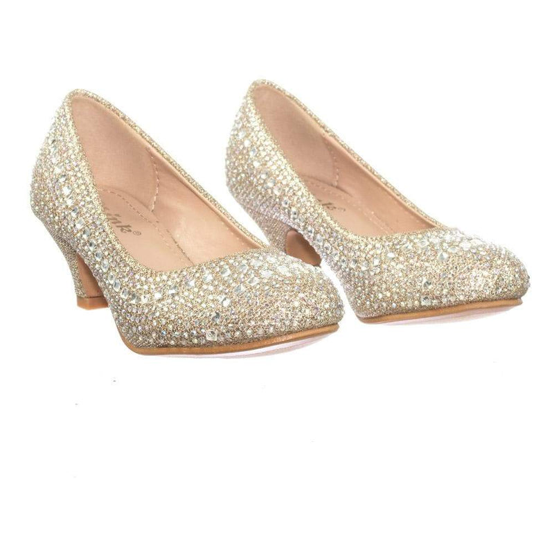 Jemma03 Children Girl Rhinestone Crystal Glitter Pump For Wedding & Parties